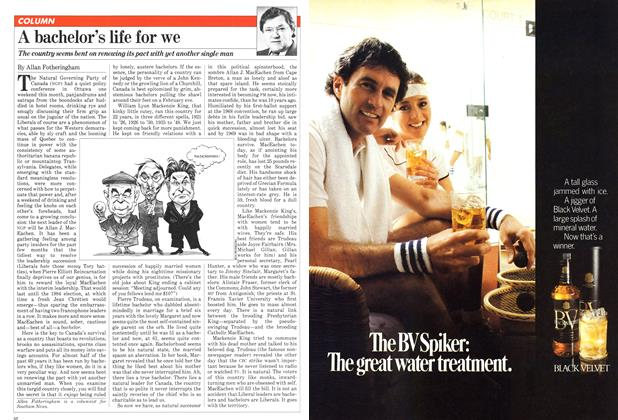 Article Preview: A bachelor's life for we, June 1981 | Maclean's