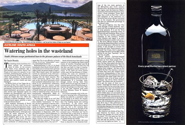 Article Preview: Watering holes in the wasteland, June 1981 | Maclean's