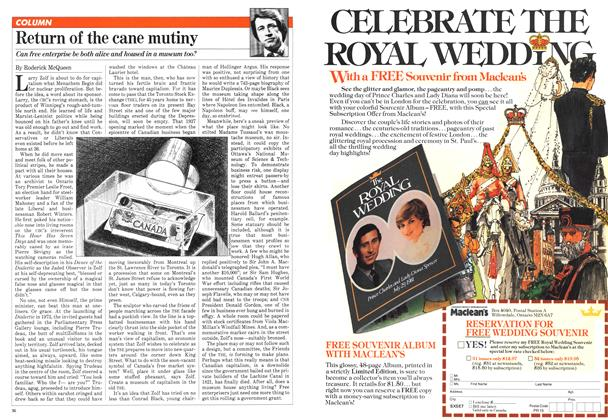 Article Preview: Return of the cane mutiny, June 1981 | Maclean's