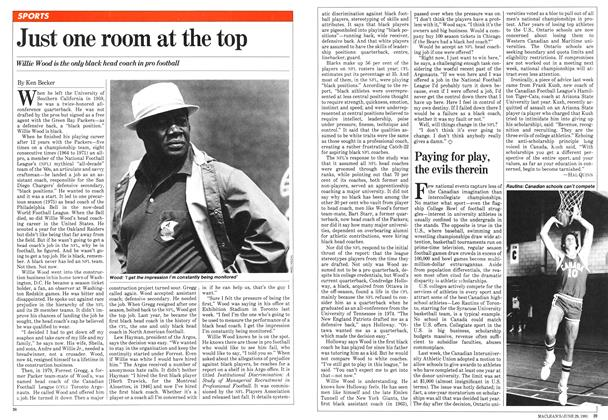 Article Preview: Just one room at the top, June 1981 | Maclean's