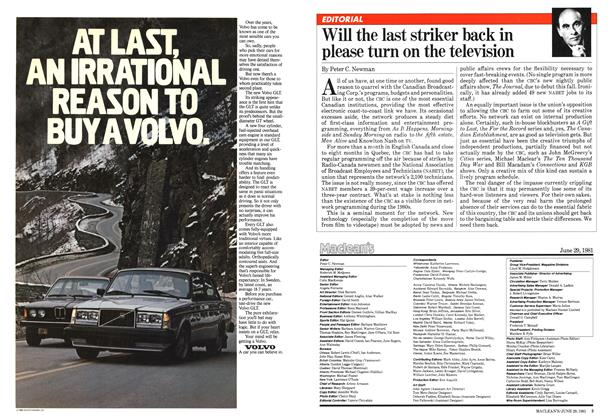Article Preview: Will the last striker back in please turn on the television, June 1981 | Maclean's
