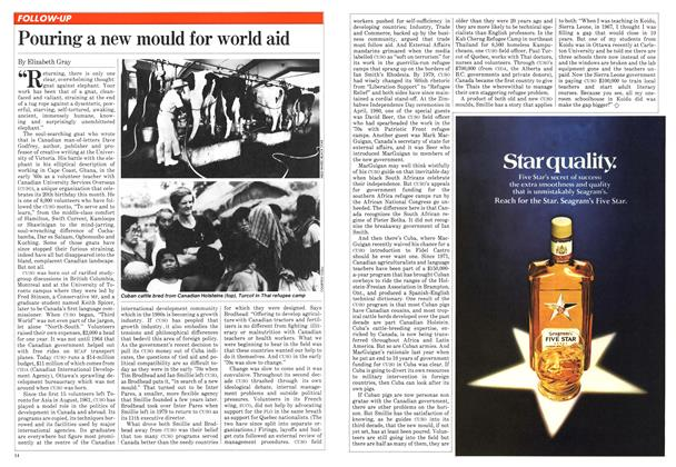 Article Preview: Pouring a new mould for world aid, June 1981 | Maclean's