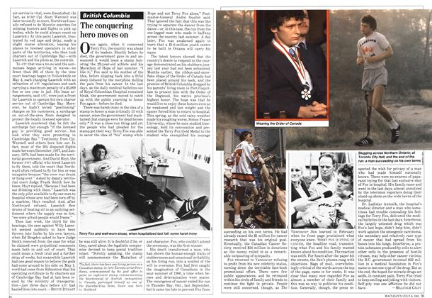 Article Preview: The conquering hero moves on, JULY 6,1981 1981 | Maclean's