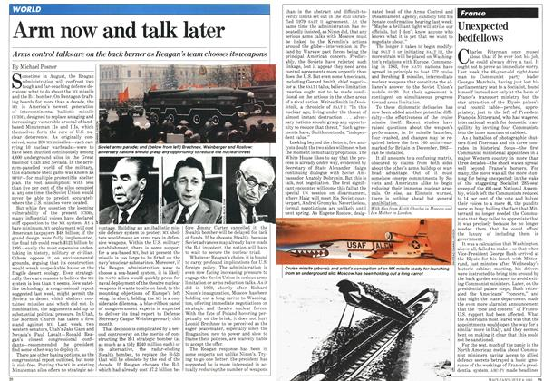 Article Preview: Arm now and talk later, JULY 6,1981 1981 | Maclean's