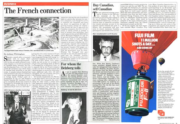 Article Preview: For whom the Belzberg tolls, JULY 6,1981 1981 | Maclean's