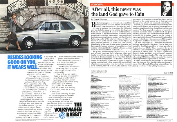 Article Preview: After all, this never was the land God gave to Cain, JULY 6,1981 1981 | Maclean's