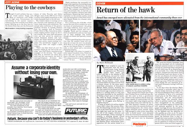 Article Preview: Return of the hawk, July 1981 | Maclean's