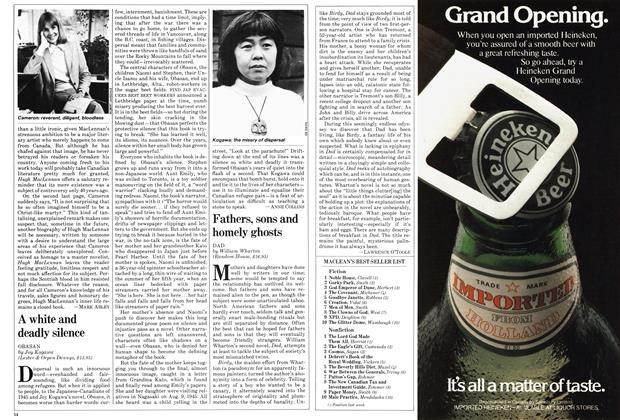 Article Preview: A white and deadly silence, July 1981 | Maclean's