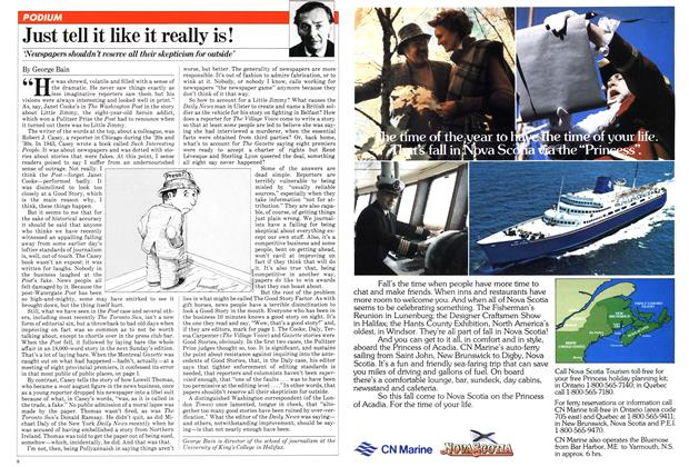 Article Preview: Just tell it like it really is!, July 1981 | Maclean's