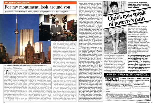 Article Preview: For my monument, look around you, July 1981 | Maclean's