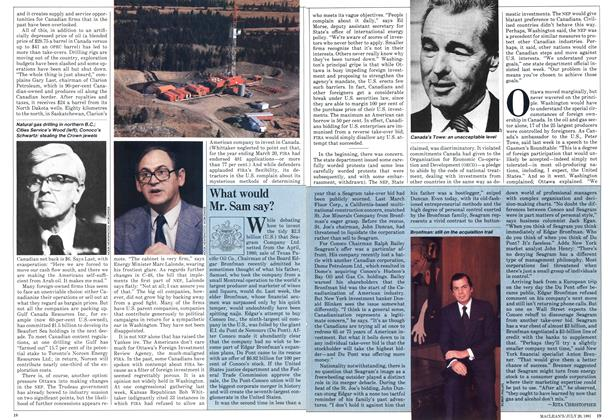 Article Preview: What would Mr. Sam say?, July 1981 | Maclean's
