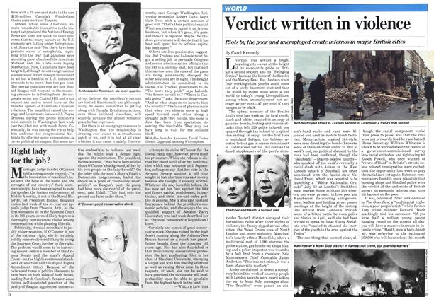 Article Preview: Verdict written in violence, July 1981 | Maclean's