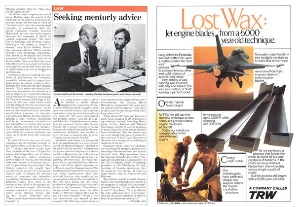 Article Preview: Seeking mentorly advice, July 1981   Maclean's