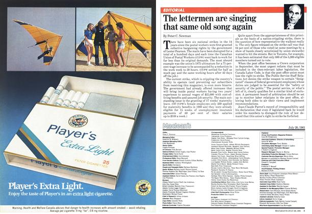 Article Preview: The lettermen are singing that same old song again, July 1981 | Maclean's