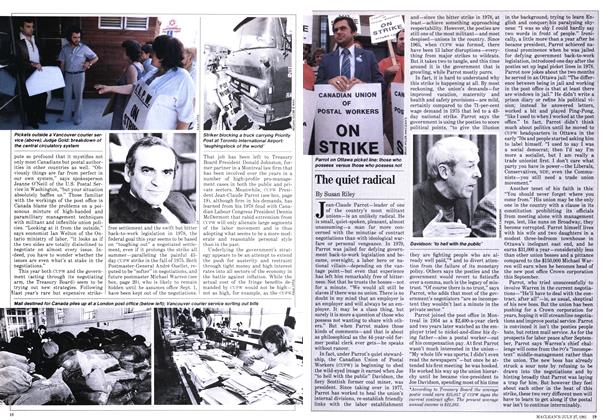 Article Preview: The quiet radical, JULY 27,1981 1981 | Maclean's