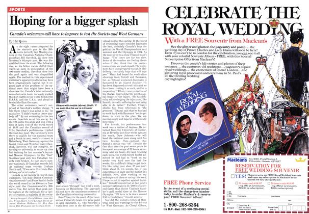 Article Preview: Hoping for a bigger splash, JULY 27,1981 1981 | Maclean's