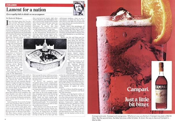 Article Preview: Lament for a nation, JULY 27,1981 1981 | Maclean's