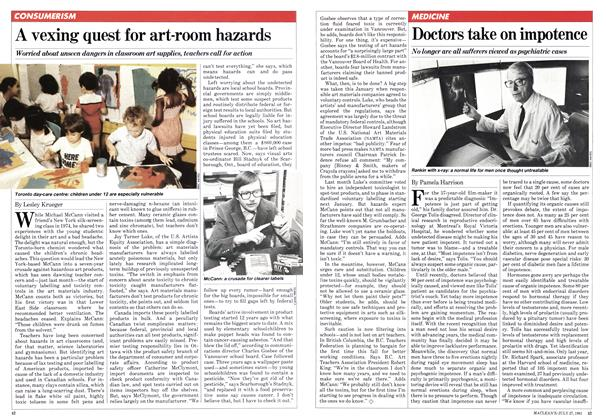 Article Preview: A vexing quest for art-room hazards, JULY 27,1981 1981 | Maclean's