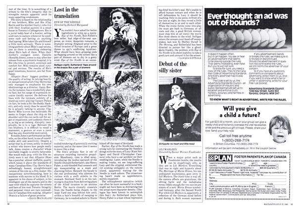 Article Preview: Debut of the silly sister, JULY 27,1981 1981 | Maclean's