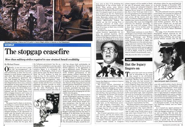 Article Preview: The stopgap ceasefire, August 1981 | Maclean's