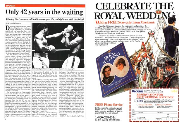 Article Preview: Only 42 years in the waiting, August 1981 | Maclean's