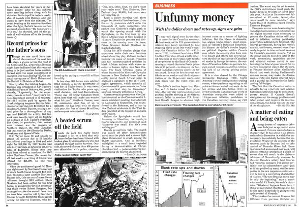 Article Preview: A matter of eating and being eaten, August 1981 | Maclean's