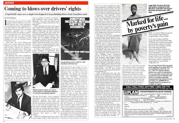 Article Preview: Coming to blows over drivers' rights, August 1981 | Maclean's