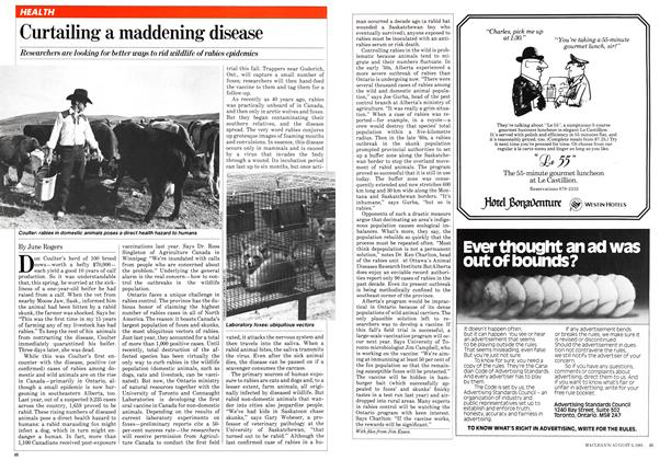 Article Preview: Curtailing a maddening disease, August 1981 | Maclean's