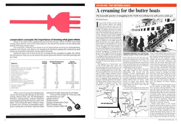 Article Preview: A creaming for the butter boats, August 1981 | Maclean's