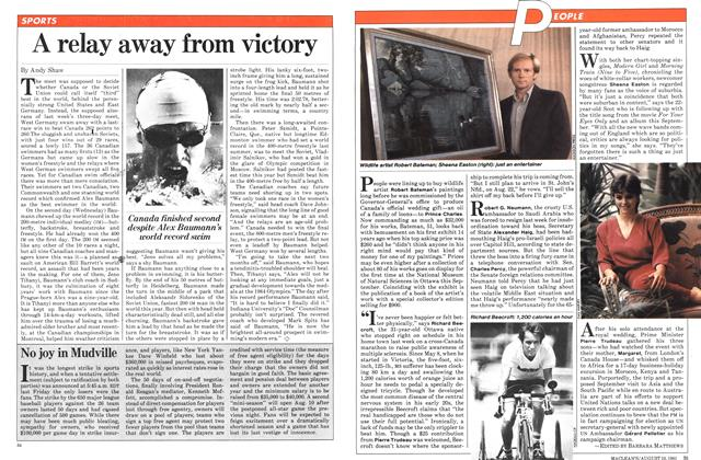 Article Preview: A relay away from victory, August 1981 | Maclean's