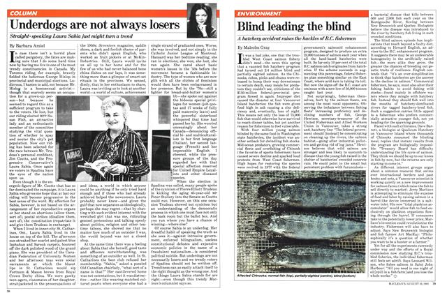 Article Preview: Blind leading the blind, August 1981 | Maclean's