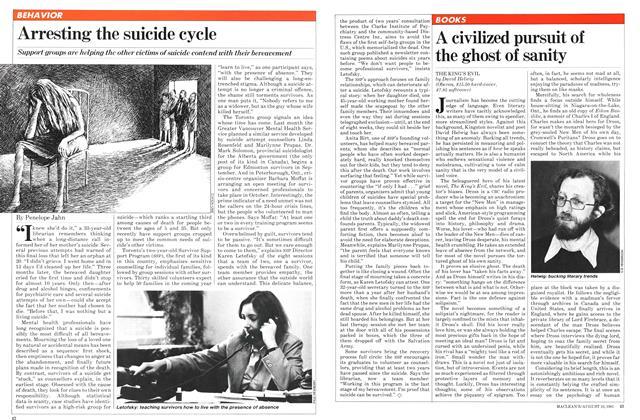 Article Preview: Arresting the suicide cycle, August 1981 | Maclean's