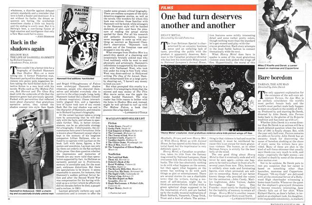 Article Preview: One bad turn deserves another and another, August 1981 | Maclean's