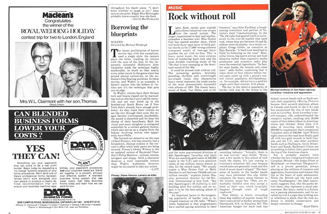 Article Preview: Rock without roll, August 1981 | Maclean's