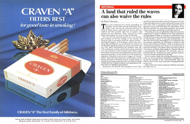 Article Preview: A land that ruled the waves can also waive the rules, August 1981 | Maclean's