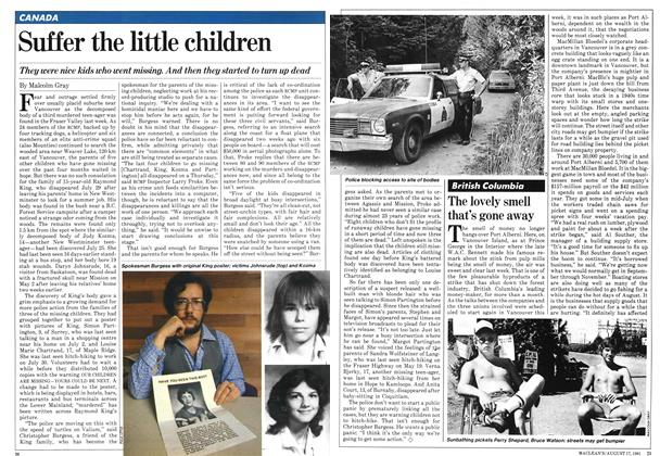 Article Preview: The lovely smell that's gone away, August 1981 | Maclean's