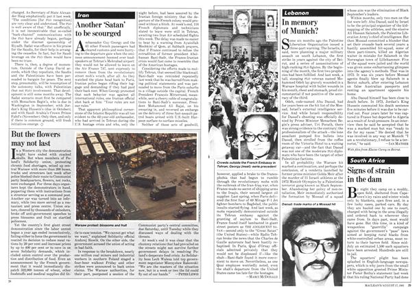 Article Preview: Signs of strain in the dam, August 1981 | Maclean's
