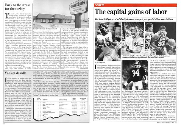Article Preview: The capital gains of labor, August 1981 | Maclean's