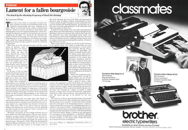 Article Preview: Lament for a fallen bourgeoisie, August 1981 | Maclean's