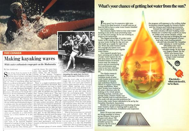 Article Preview: Making kayaking waves, August 1981 | Maclean's