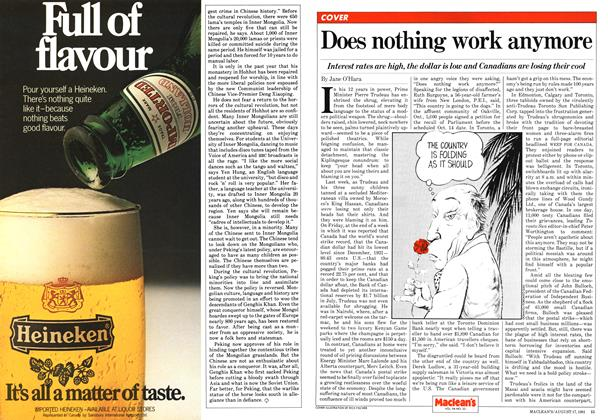 Article Preview: Does nothing work anymore, August 1981 | Maclean's