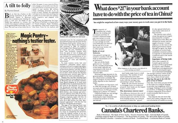 Article Preview: A tilt to folly, August 1981 | Maclean's