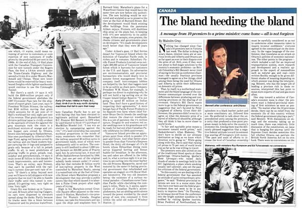 Article Preview: The bland heeding the bland, August 1981 | Maclean's