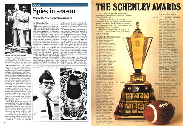 Article Preview: Spies in season, August 1981 | Maclean's