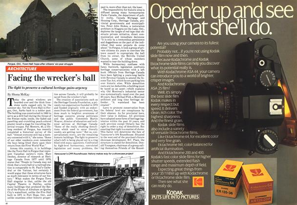 Article Preview: Facing the wrecker's ball, August 1981 | Maclean's