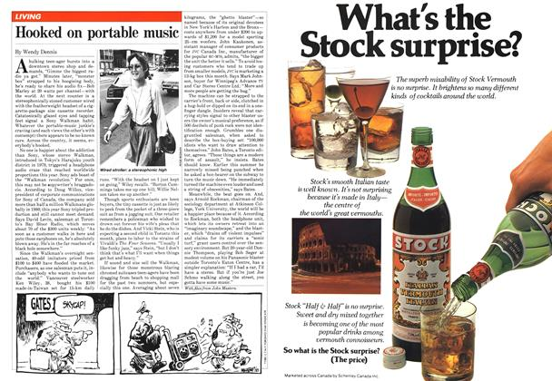 Article Preview: Hooked on portable music, August 1981 | Maclean's