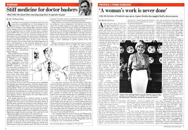 Article Preview: 'A woman's work is never done', August 1981 | Maclean's