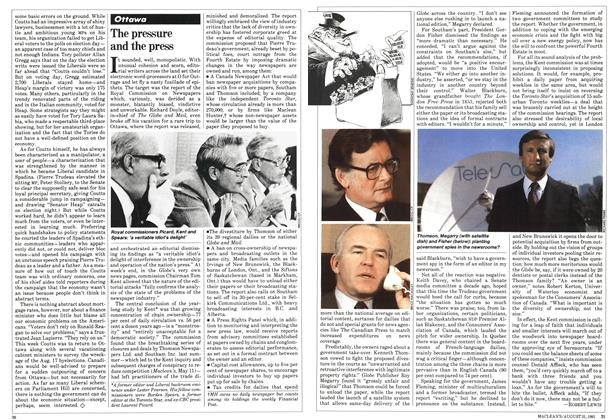 Article Preview: The pressure and the press, August 1981 | Maclean's