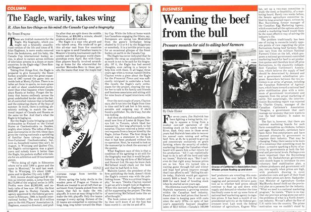 Article Preview: Weaning the beef from the bull, August 1981 | Maclean's