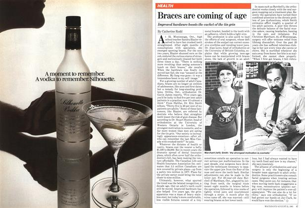 Article Preview: Braces are coming of age, August 1981 | Maclean's